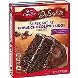 Betty Crocker Baking Mix, Super Moist Cake Mix, Triple Chocolate Fudge, 15.25 Oz Box (Tamaño: 15.25 oz)