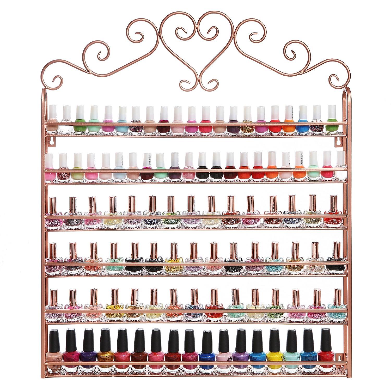 nail polish organizer display salon home wall rack 6 tier. Black Bedroom Furniture Sets. Home Design Ideas