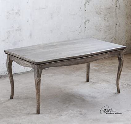 Classic Weathered Wood Coffee Table | Elegant Antique Style Cottage