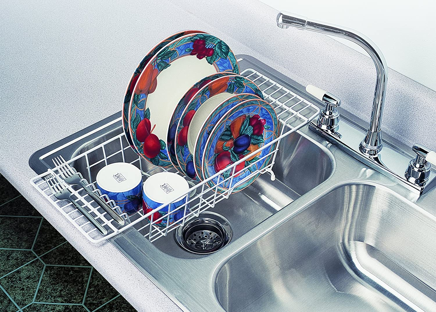 Over The Sink Drainer Counter Space Saver Dish Organizer