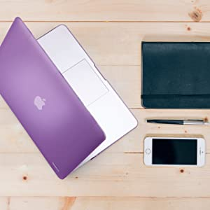 Zinmark 13 Inch Laptop Case Cover, Compatible with MacBook Air 13.3 Inch A1369 / A1466, Plastic Folio Hard Cover Case - Light Purple (Color: Light Purple, Tamaño: MacBook Air 13 NO CDROM)