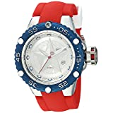 Invicta Men's 'Marvel' Automatic Stainless Steel and Silicone Watch, Color:red (Model: 26001)