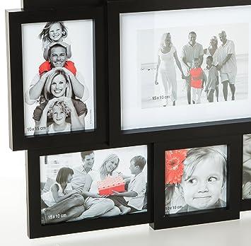 cadre photo p le m le p le m le mural coloris noir capacit 9 photos cuisine maison z92. Black Bedroom Furniture Sets. Home Design Ideas