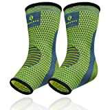 Benmarck Ankle Compression Sleeve, Plantar Fasciitis Sock, Foot Arch and Achilles Tendon Support Brace for Running for Men and Women by (Fjord Blue, Unisize) (Color: Fjord Blue, Tamaño: Unisize)