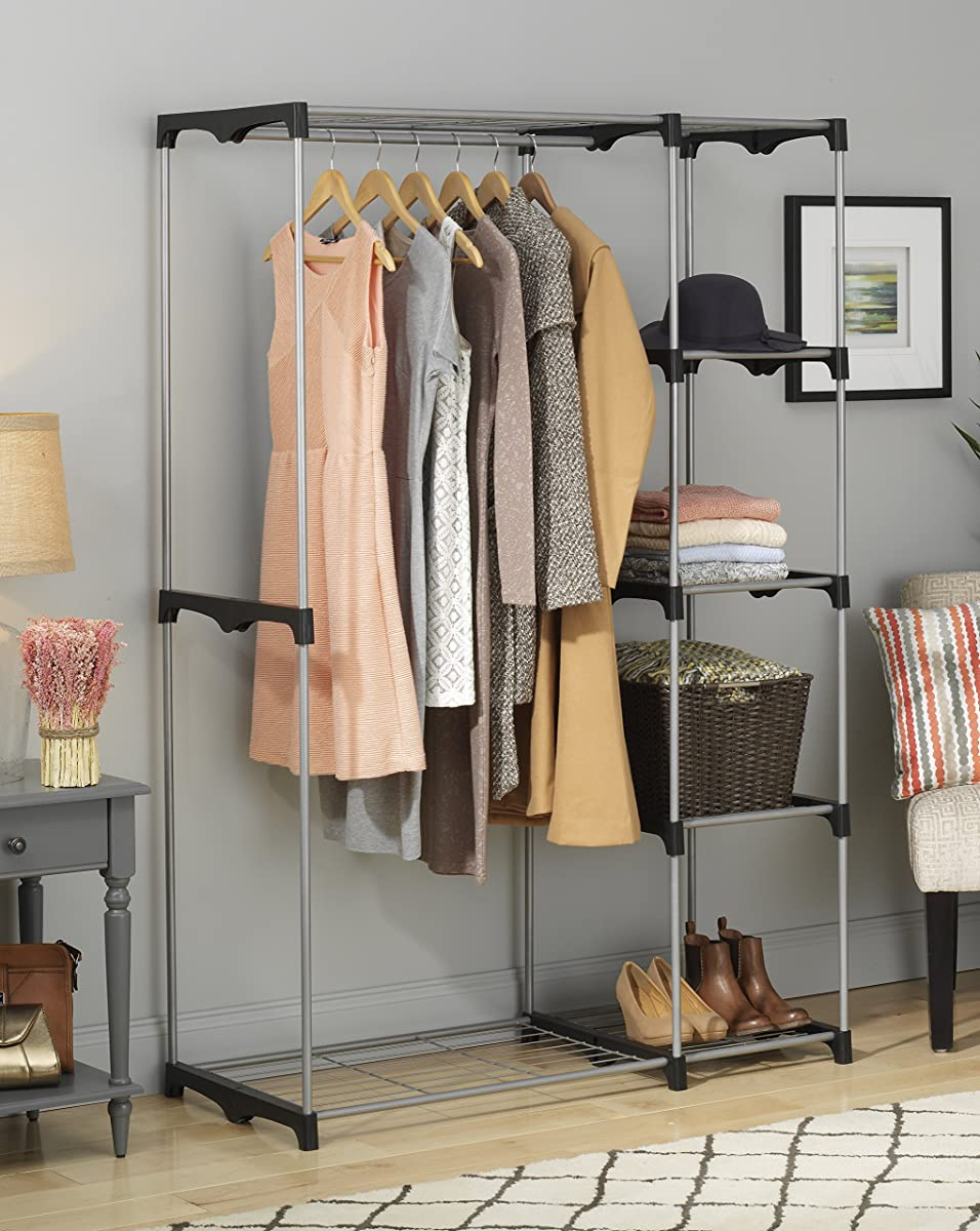 Whitmor 6779 3044 Double Rod Freestanding Closet With