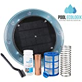 Pool Ecologix Solar Pool Ionizer   Floating Cleaner and Purifier with Copper Anode   Keeps Water Crystal Clear and Free of Algae   Chlorine Free and Eco-Friendly   Fresh and Salt Water Compatible