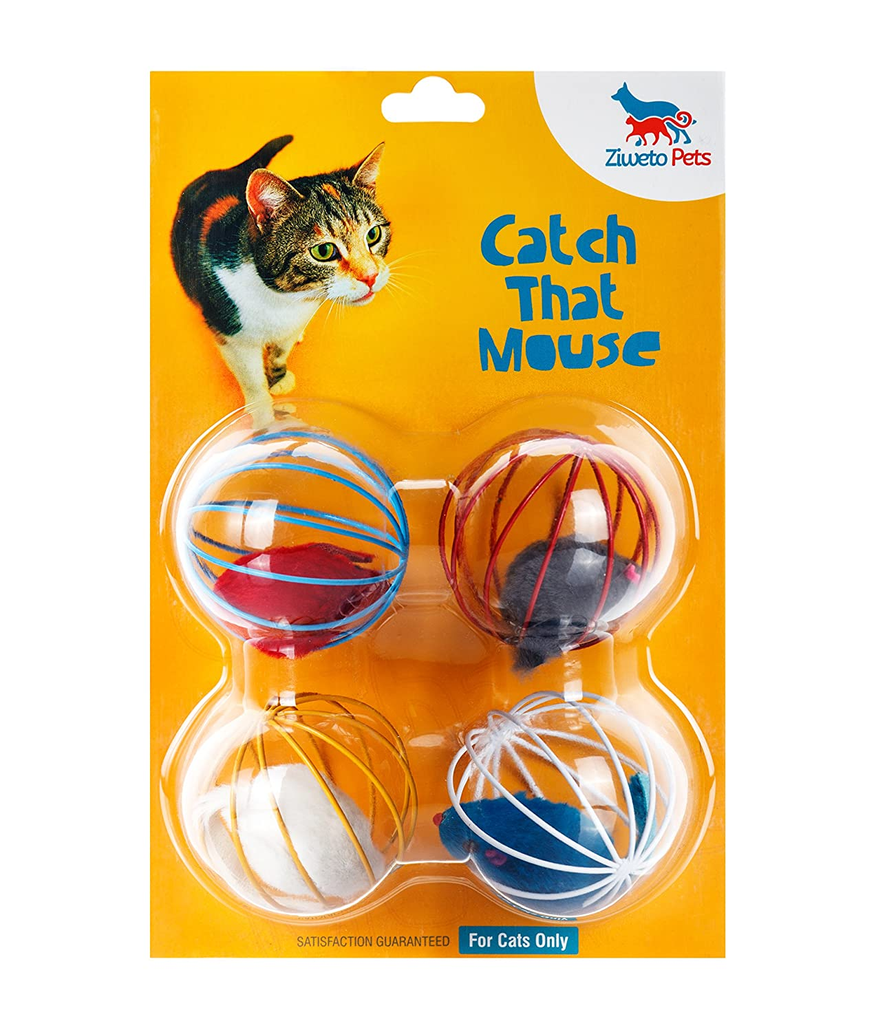 Ziweto Pets Megapack The Best Toy For Cats, 4 Cat Toys / Accessories To Play With The Cat