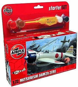 Airfix - A55102 - Maquette - Starter Set Mitsubishi A6M2b Zero