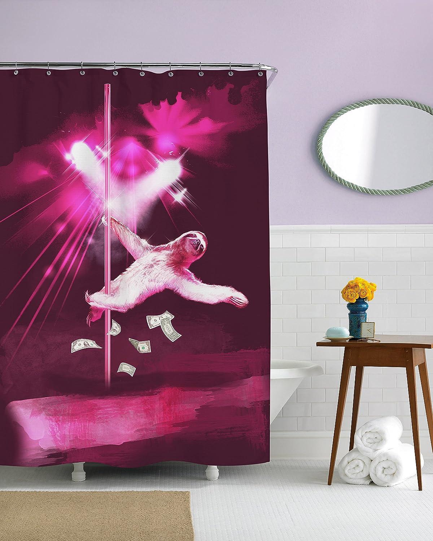 Sharp Shirter Stripper Sloth Shower Curtains Shower Curtains