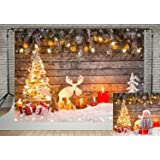 7x5ft Christmas Photography Backdrops Wooden Wall Christmas Tree Decoration Background for Photo Studio (7x5ft) (Color: 5453, Tamaño: 7x5ft)