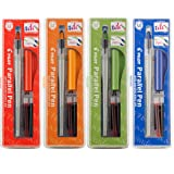 Pilot Parallel Calligraphy Pen Set, 1.5 mm, 2.4 mm, 3.8 mm and 6 mm with Bonus Ink Cartridge (P9005SET) (Color: Assorted, Tamaño: 1-Pack of 4 Count)