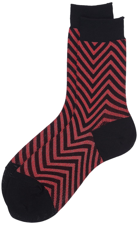 (レイビームス) Ray BEAMS / ジグ ザグ ソックス 61430246615 35 RED/BLACK ONE SIZE : 服&ファッション小物通販 | Amazon.co.jp