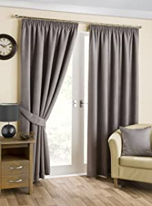 Hamilton McBride Belvedere Pewter Blackout Fully Lined Readymade Curtain Pair 138x108in(350x274cm) Approx       review and more description