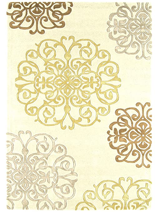 v 0 benuta tapis de de salon moderne metrix arabesque pas cher blanc blanc 120x170 cm. Black Bedroom Furniture Sets. Home Design Ideas