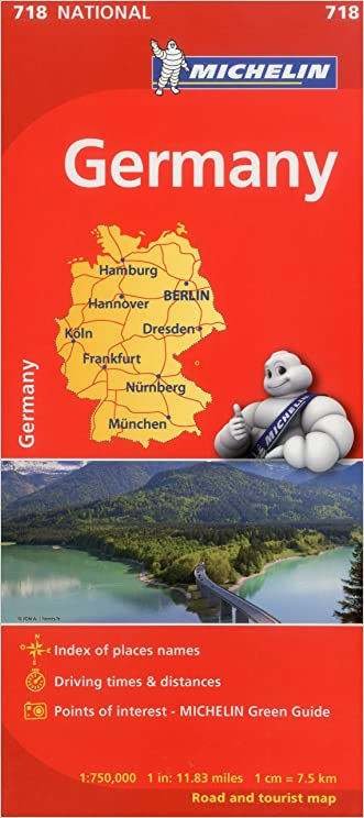 Michelin Germany Map 718 (Maps/Country (Michelin)) written by Michelin Travel %26 Lifestyle