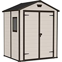 Keter Manor 6 x 5 ft Outdoor Garden Storage Shed (Beige)