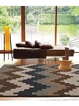 4 benuta tapis metrix metrix ethnique pas cher marron 120x170 cm sans sans pollution. Black Bedroom Furniture Sets. Home Design Ideas