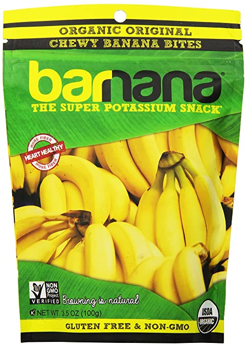 Barnana Banana Chewies. Delicious and full of potassium! Good for runners.
