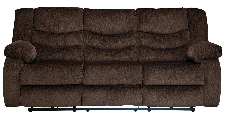 Ashley Garek Fabric Reclining Sofa in Cocoa