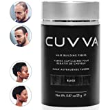 CUVVA Hair Fibers - Hair Loss Concealer for Thinning Hair - Keratin Hair Building Fibers Will Instantly Make Thin Hair Look Thicker - 0.87oz - Black (Color: Black, Tamaño: 0.87oz/25g)