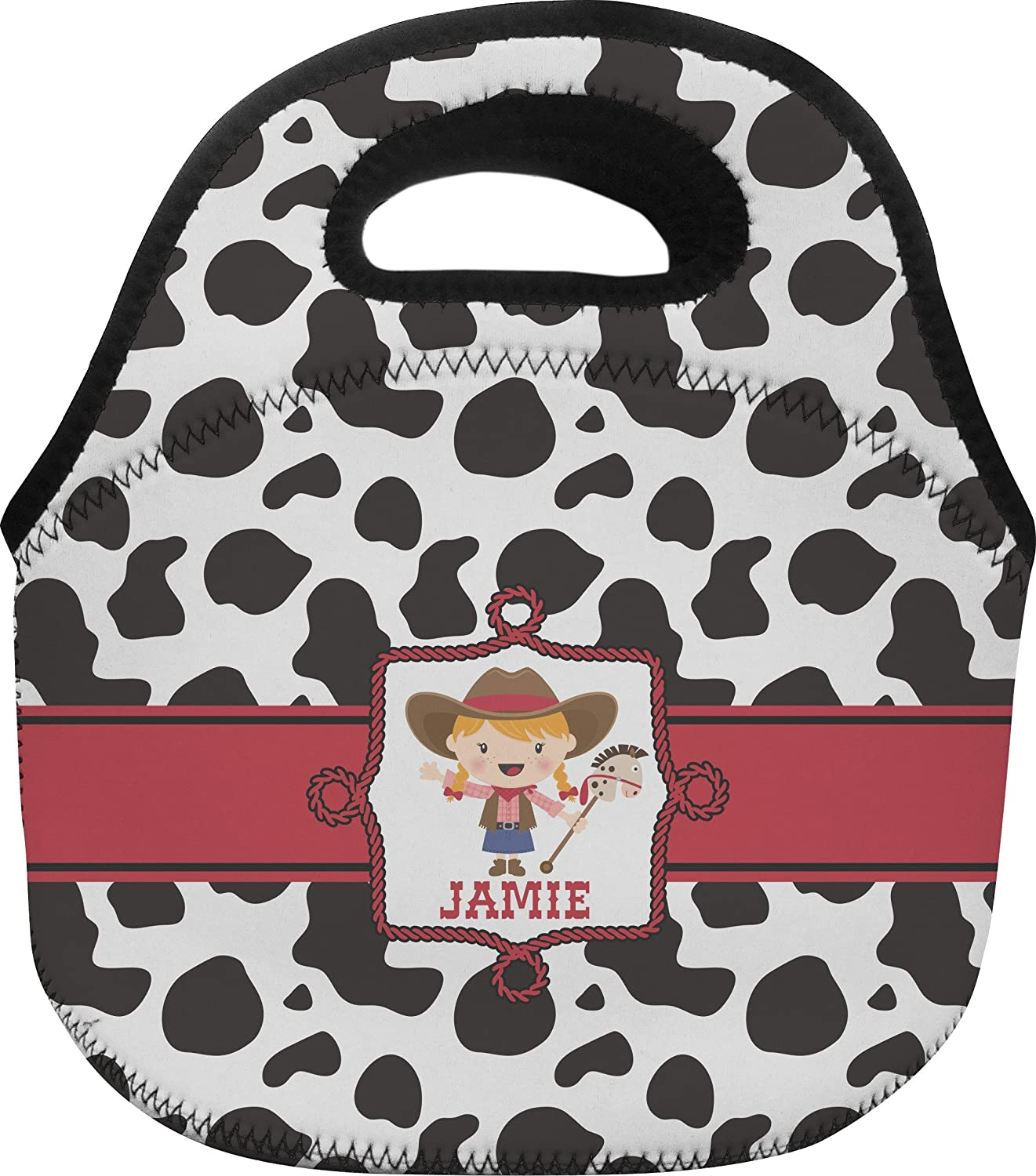 Cowprint Cowgirl Personalized Lunch Bag electric lunch box double layer stainless steel liner cooking lunch boxes multifunction plug in lunch box steamed rice steamer