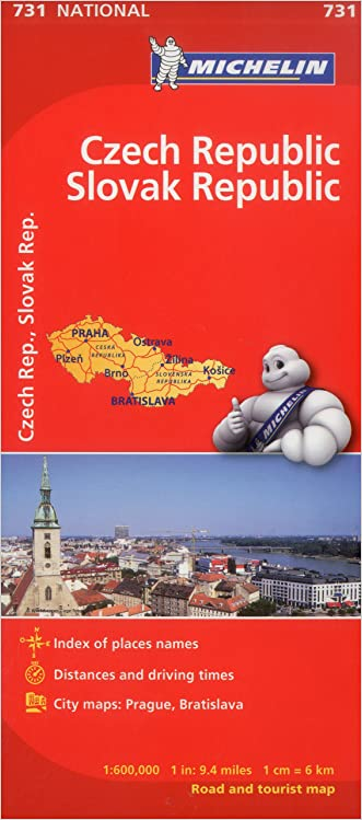 Michelin Czech & Slovak Republic Map 731 (Maps/Country (Michelin))