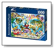 Disney World Map 1000 Piece Jigsaw Puzzle
