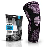 POWERLIX Compression Knee Sleeve - Best Knee Brace for Men & Women – Knee Support for Running, Crossfit, Basketball, Weightlifting, Gym, Workout, Sports etc. – for BEST FIT CHECK SIZING CHART (Single) (Color: Pink, Tamaño: XX-Large)