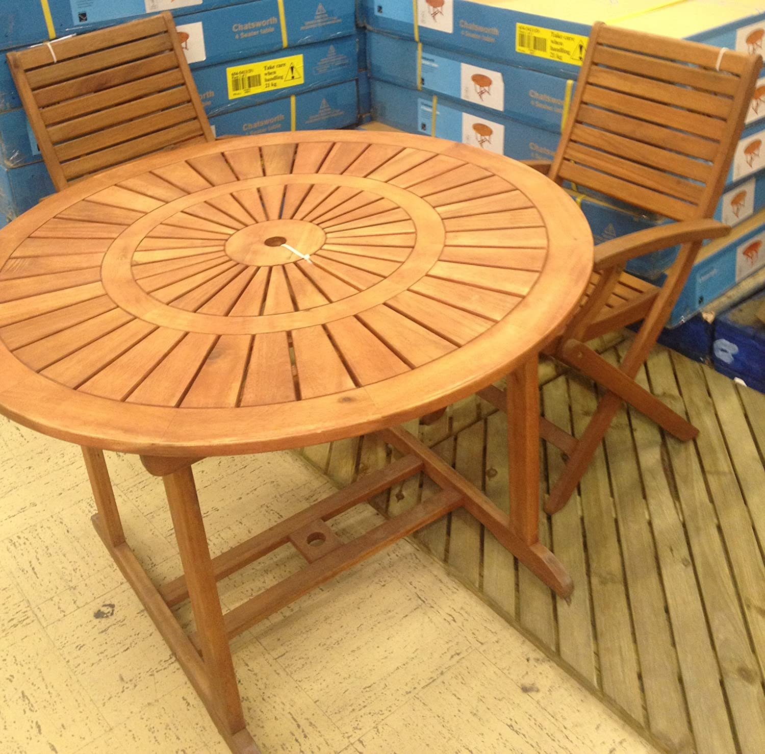 Patio Furniture Southern New Jersey: Chatsworth 4 Seater Round Outdoor Garden Patio Table Only