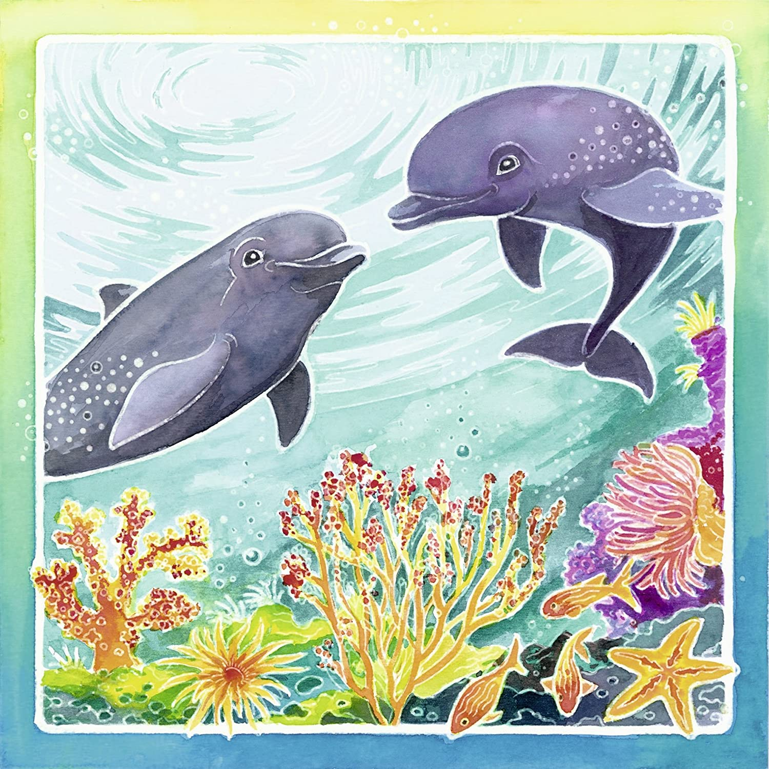 heck of a bunch aquarelle glow dolphins arts u0026 crafts kit