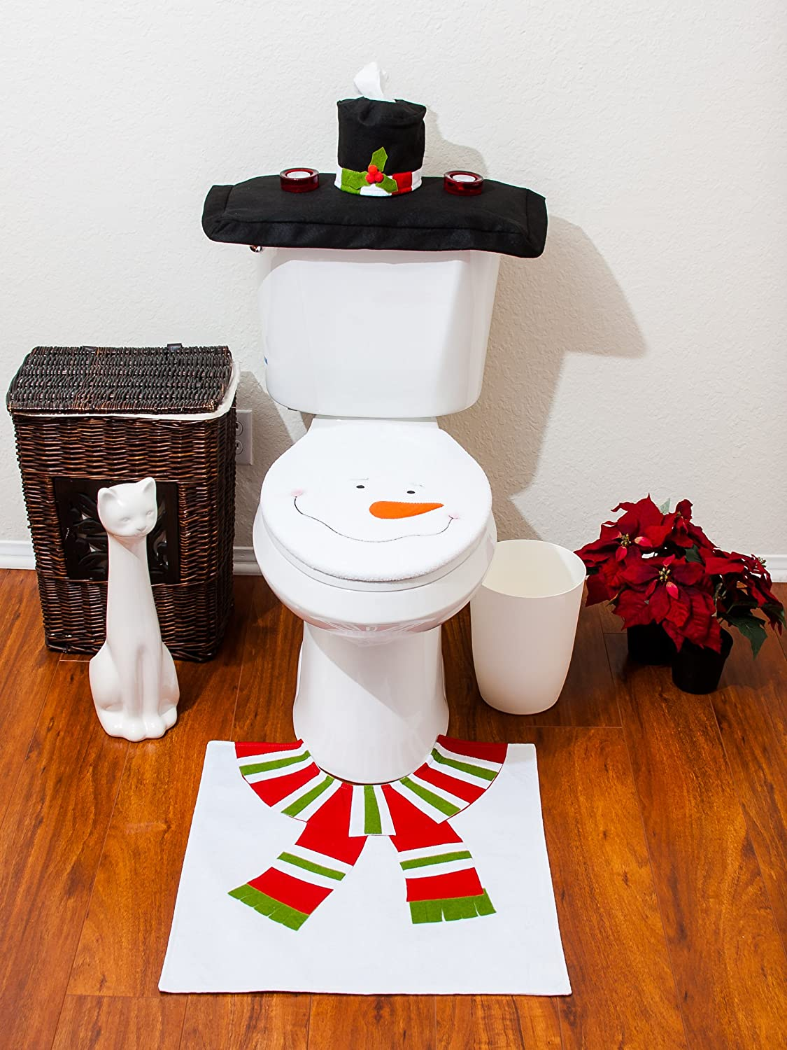 Christmas Santa Bathroom Toilet Set