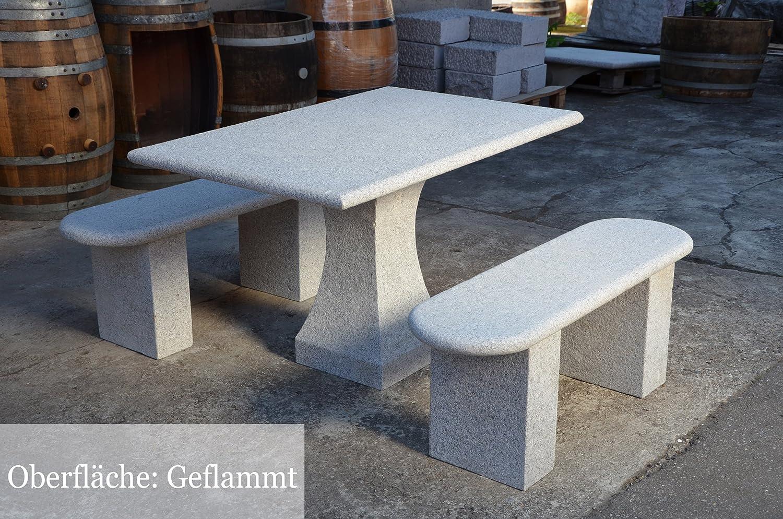 sitzgruppe gartenm bel aus granit gartentisch gartenb nke aus stein set 120 cm l nge g nstig. Black Bedroom Furniture Sets. Home Design Ideas