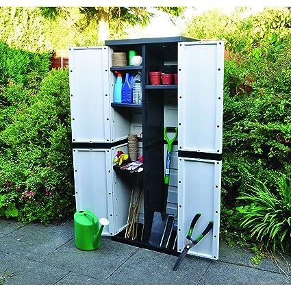 Kingfisher - Armario de almacenamiento para jardín (Talla Única/Gris)