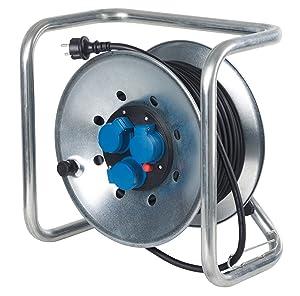 as  Schwabe 21302 WürfelMetallKabeltrommel 290 mm ø, 50 m H07RNF 3G1.5, IP44 Aussenbereich, schwarz  BaumarktÜberprüfung und Beschreibung