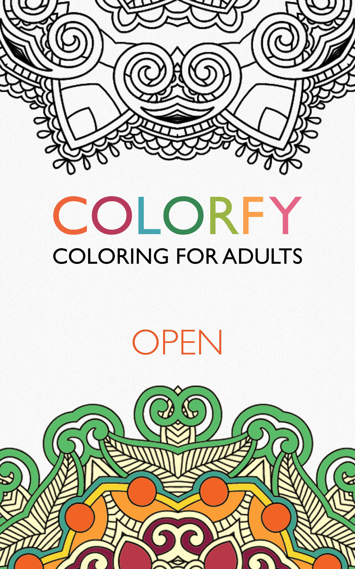 Colorfy coloring book for adults free Coloring book for adults android