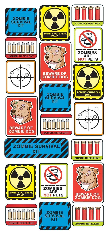 Zombie Survival Labels Zombie Apocalypse Survival Kit Labels