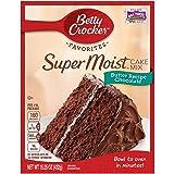 Betty Crocker Baking Mix, Super Moist Cake Mix, Butter Recipe Chocolate, 15.25 oz Box (Pack of 6)