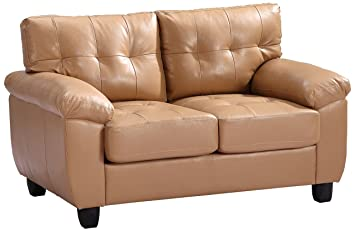 Glory Furniture G901A-L Living Room Love Seat, Tan