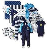 Gerber Baby Boys' 19 Piece Baby Essentials Gift Set, Safari, Newborn (Color: Safari, Tamaño: 0-3 Months)