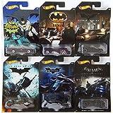 Hot Wheels, 2015 Batman, Bundle Set of 6 Exclusive Die-Cast Vehicles (Color: Black)