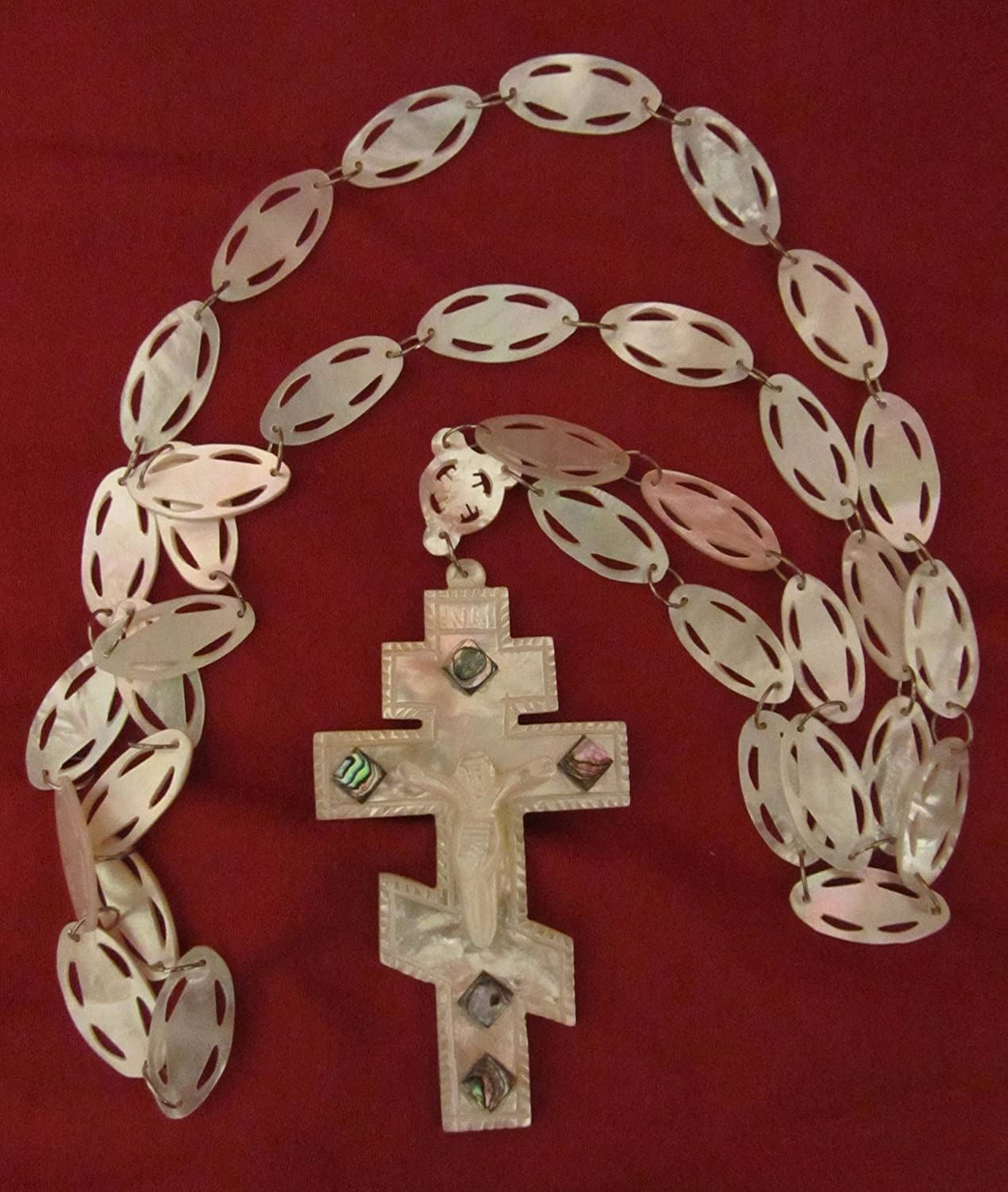 Цепочки, Подвески Mother of Pearl Pectoral Orthodox Priest Cross and Chain