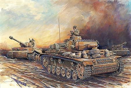 Dragon - D7386 - Maquette - Panzer III - AUSF N Afrika Korps - Echelle 1:72