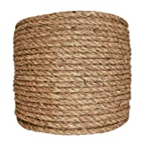 SGT KNOTS Manila Rope | Size 1/4-3 inch | Length 10-1200 ft | Tan Rope/Brown Rope - Twisted Manila 3 Strand Natural Fiber Cord | Ropes for Indoor and Outdoor Use | 1/2 inch x 600 feet (Tamaño: 1/2 in x 600 ft)