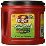 Folgers Simply Smooth Ground Coffee, Medium Roast, 31.1 Ounce (Tamaño: 31.1 Ounce)