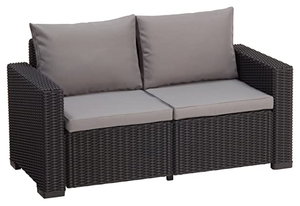 Allibert California Sofa - patio sofas (Graphite, Grey, Round, Sofa)