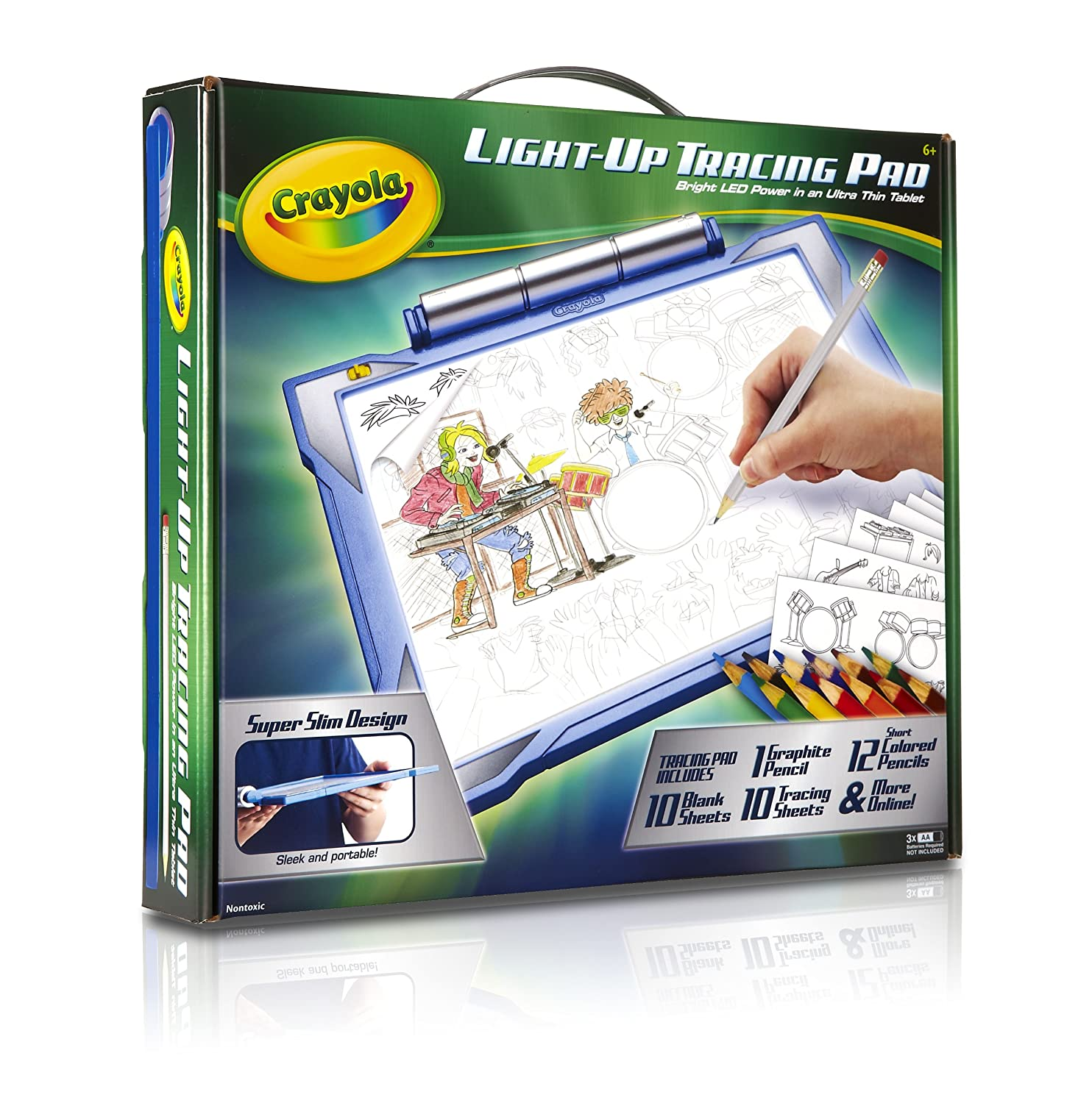 buy crayola light up tracing pad blue online at low prices in india amazonin - Crayola Online Drawing