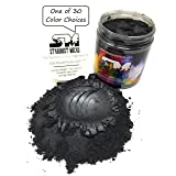 Stardust Micas Pigment Powder Colorant for Makeup, Soap Making, Epoxy Resin, DIY Crafting Projects, Bright True Colors Stable Mica Batch Consistency Black Shimmer (Color: Black Shimmer, Tamaño: 72 Gram Jar)