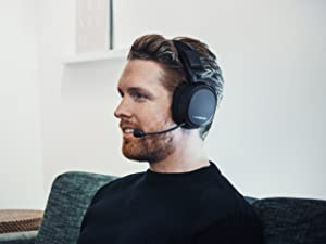 SteelSeries Arctis Pro Wireless Gaming Headset - Lossless High Fidelity Wireless + Bluetooth for PS4 and PC (Color: Black)