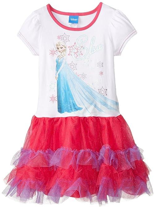 Disney-Little-Girls-Frozen-Short-Sleeve-Tutu-Dress