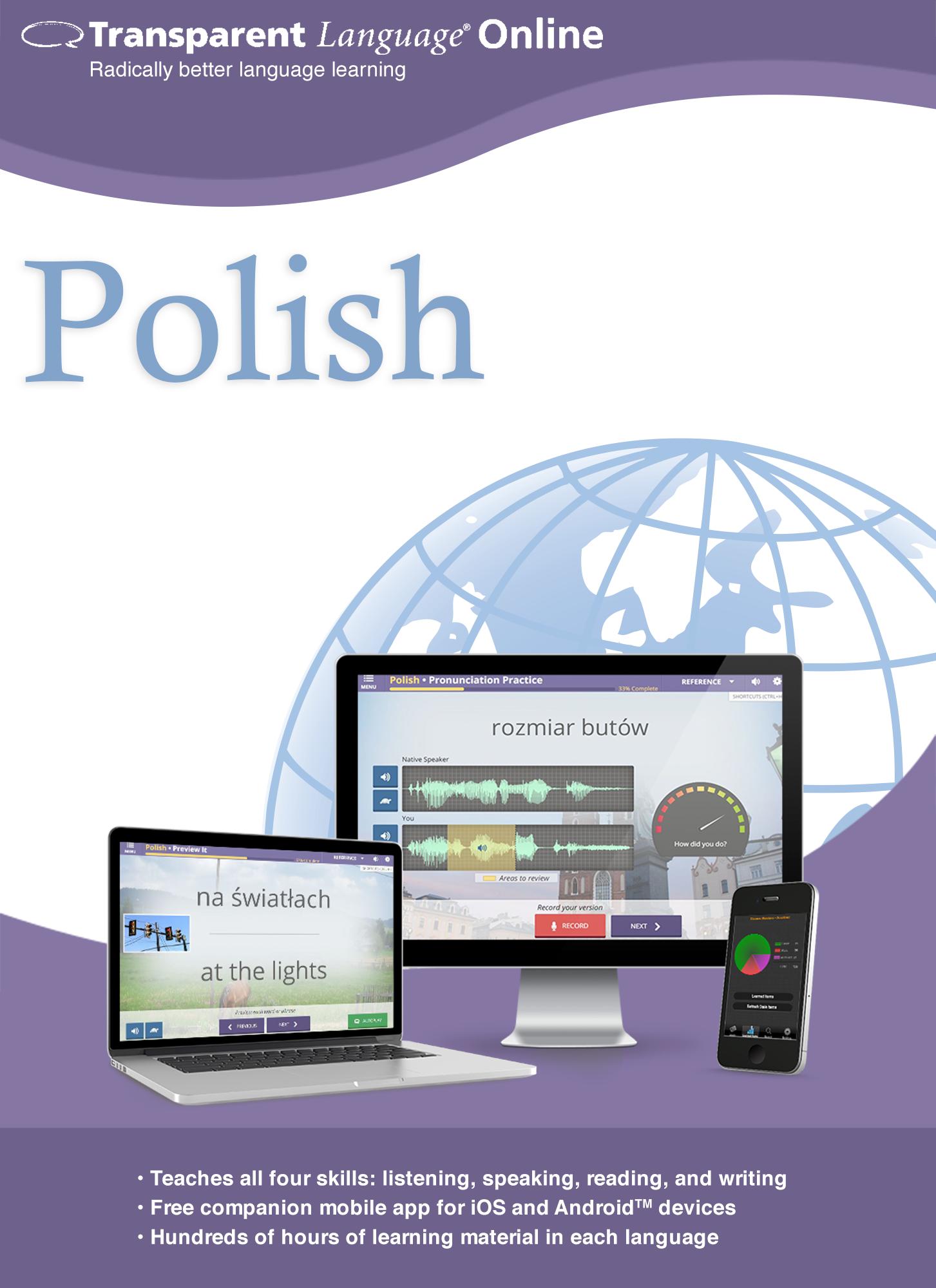 Transparent Language Online - Polish - 12 Month Subscription [Online Code]